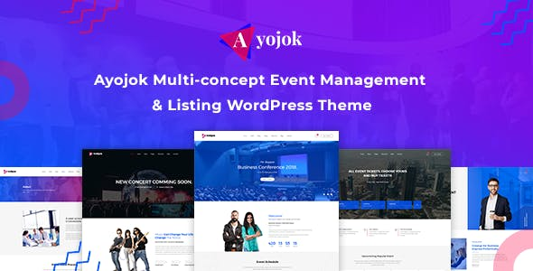 Event management, Conference  and Event WordPress Theme - Ayojok
