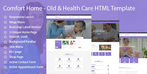 Browse 4 Elderly Care And Nursing Home Html Website Templates From 17 All Created By Our Global Community Of Independent Web Designers Developers