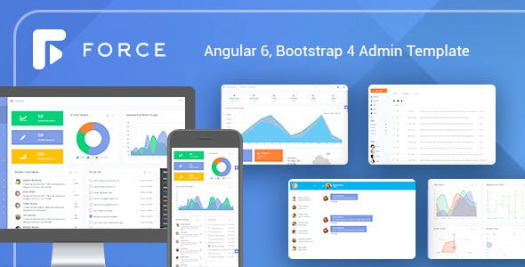 Angular 6 Admin Template With Bootstrap 4 By Ironnetwork Themeforest
