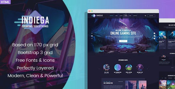 Games Templates from ThemeForest