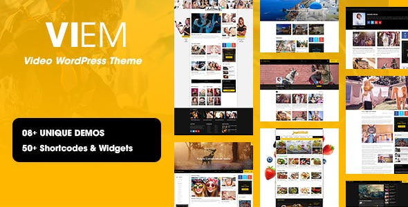 YouTube Channel Website Templates from ThemeForest