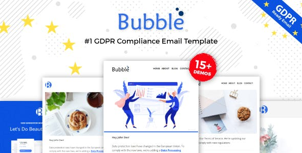 Bubble Gdpr Compliance Responsive Email Notification Online