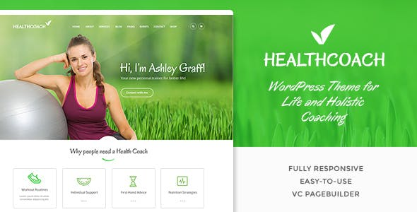 health coaching website templates from themeforest