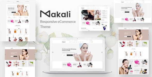 Natural templates from themeforest makali cosmetics and beauty ecommerce bootstrap4 template maxwellsz