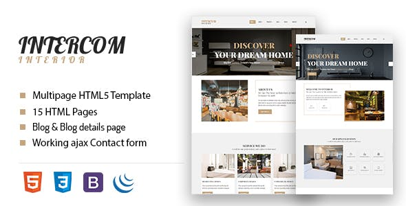Furniture and Interior HTML Website Templates from ThemeForest on online email, online faq, online documentation,
