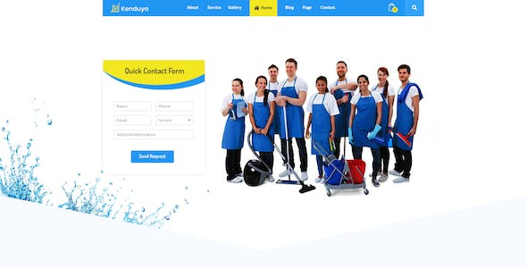 kenduya cleaning company psd template kenduya cleaning company psd template