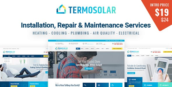 Home Services HTML Website Templates from ThemeForest