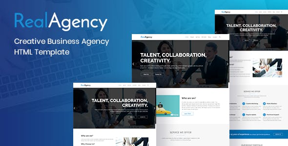 Professional corporate html website templates from themeforest realagency creative business agency html template accmission Image collections