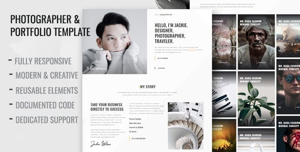 Parallax html photography website templates from themeforest betiso photography and portfolio template flashek Images