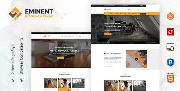 Html business website templates from themeforest eminent flooringtiling and paving services html template flashek Choice Image