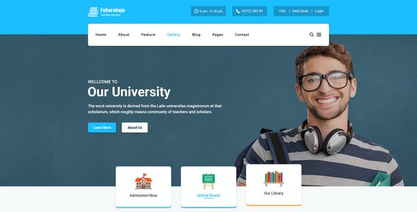 Alumni Templates from ThemeForest