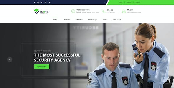 Security Company Templates from ThemeForest