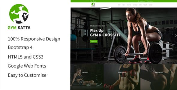 crossfit html website templates from themeforest