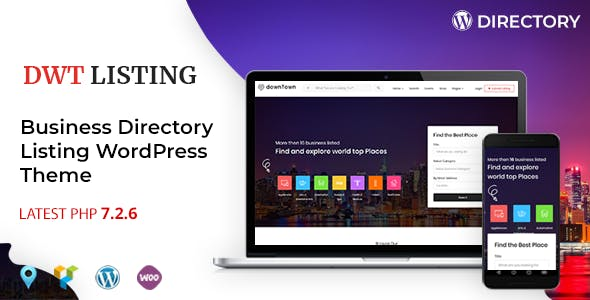 Marketplace wordpress directory themes compatible with bootstrap dwt listing directory listing wordpress theme flashek Images
