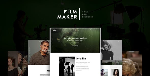 Video Production Studio Website Templates from ThemeForest