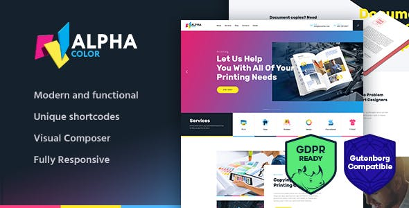 printing services website templates from themeforest