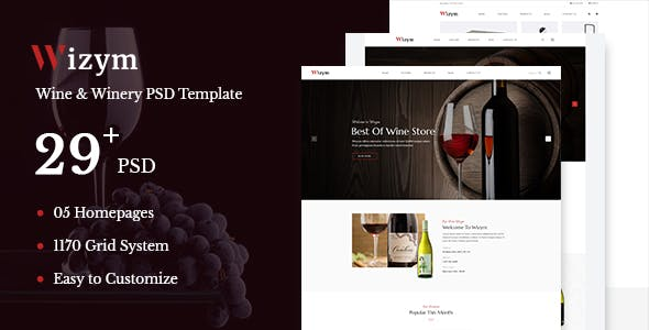 Wine Website Templates from ThemeForest