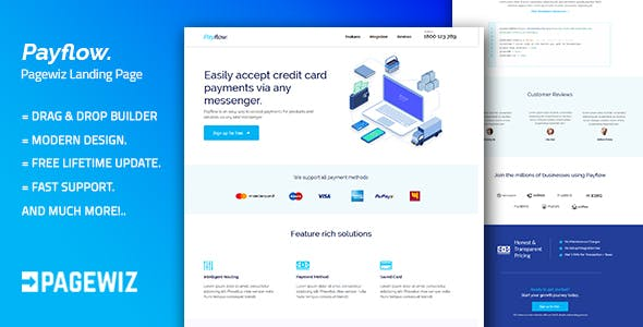Pagewiz Landing Page Templates From ThemeForest