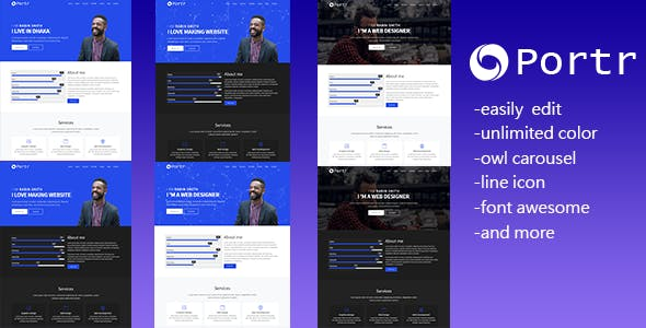 creative landing page templates from themeforest