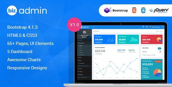 Bizadmin - Multipurpose Bootstrap 4 Admin Templates + UI Kit