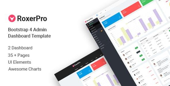 RoxerPro - Bootstrap Admin Dashboard Template