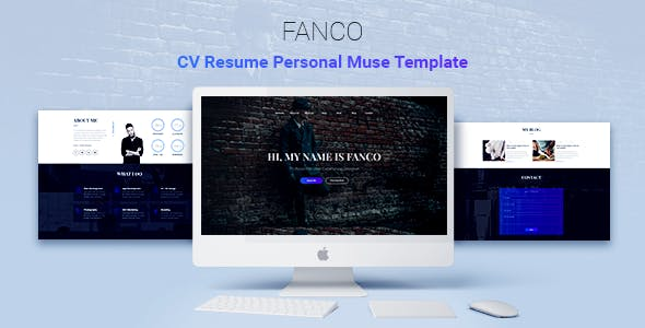 Photography adobe muse themes muse templates from themeforest fanco cv resume personal muse template maxwellsz
