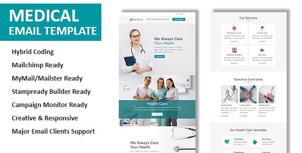 medical email templates from themeforest