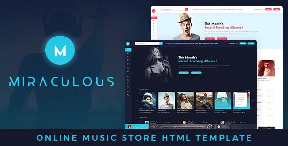 2019's Best Selling HTML Music Website Templates