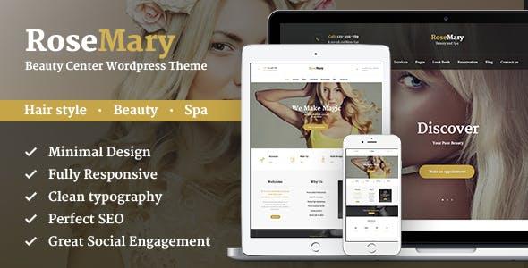RoseMary - A Refined Hair, Beauty & Spa Salon Wordpress Theme