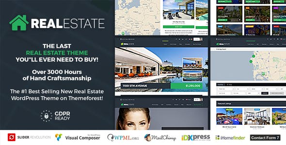 Real Estate Website Templates From Themeforest