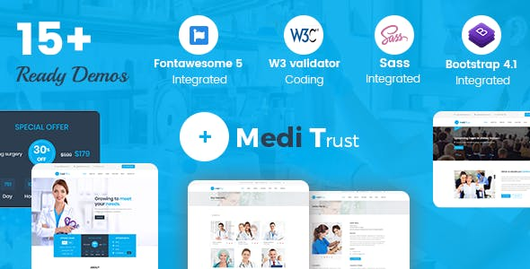 Doctor Personal Website Templates from ThemeForest