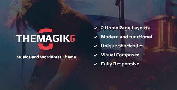 The Magic 6 - Music Band & Musician WordPress Theme