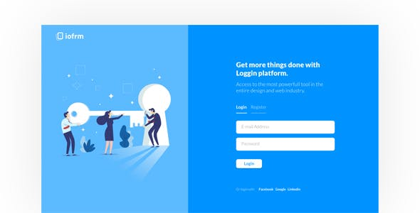 login page templates from themeforest