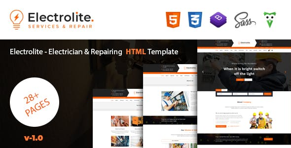 Electrical html website templates from themeforest compatible with maxwellsz