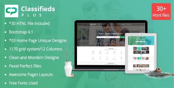 Classified Ads Plus Classifieds Websites Html Templates By