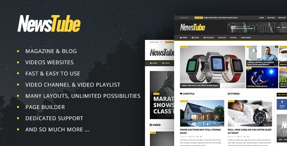 - newstube main preview - themes