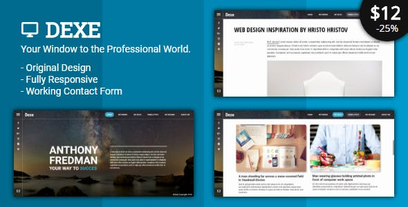 Html business card website templates from themeforest dexe personal business vcard wajeb Gallery