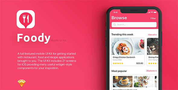 Mobile UI Templates from ThemeForest