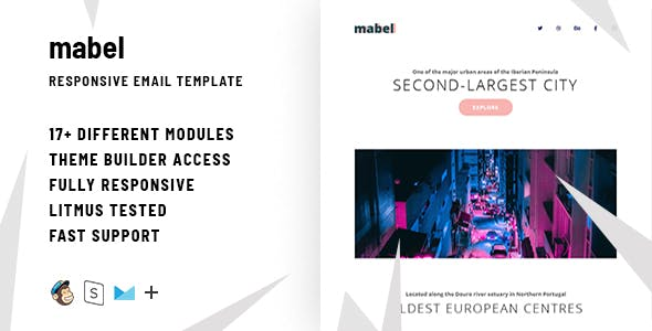 Email templates from themeforest mabel responsive email stampready builder altavistaventures Gallery
