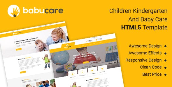 Daycare Kids HTML Website Templates From ThemeForest