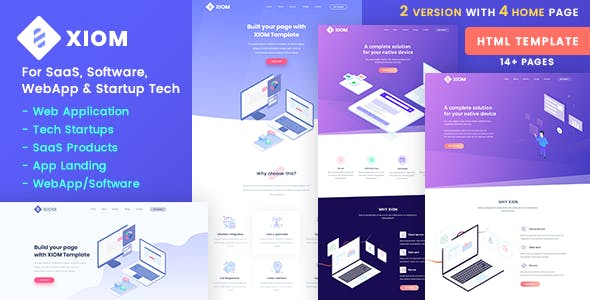 XIOM – SaaS, Software, WebApp and Startup Tech HTML Template