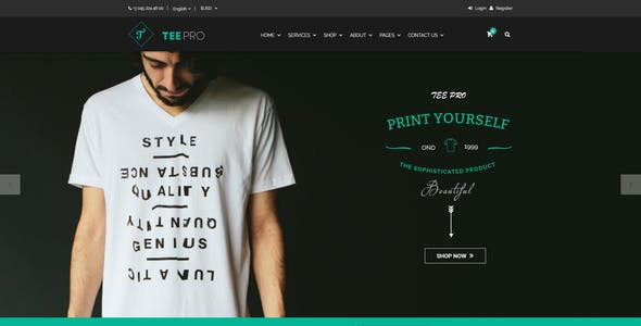 Websites To Design Shirts | Tshirt Design Website Templates From Themeforest