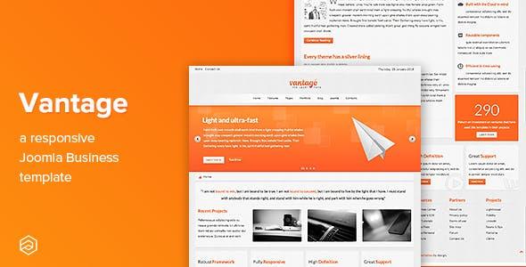 Vantage - Responsive Business Joomla Template