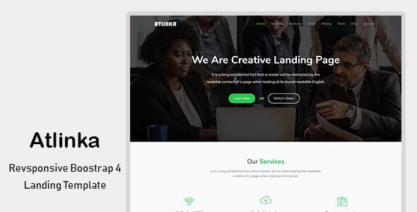 Landing Pages Templates From ThemeForest - Website landing page templates