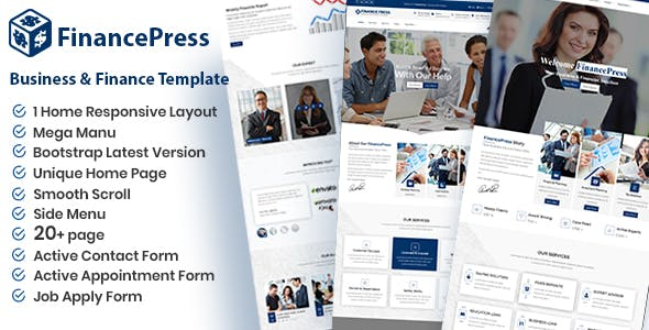 Html business website templates from themeforest financepress business and finance html template cheaphphosting Images