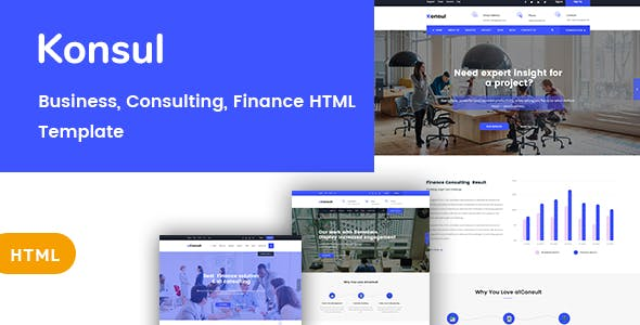 Html business website templates from themeforest konsul business consulting html template wajeb Choice Image