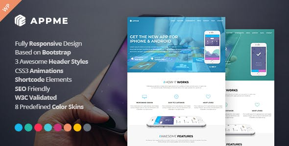 IOS WordPress App & Software Themes from ThemeForest