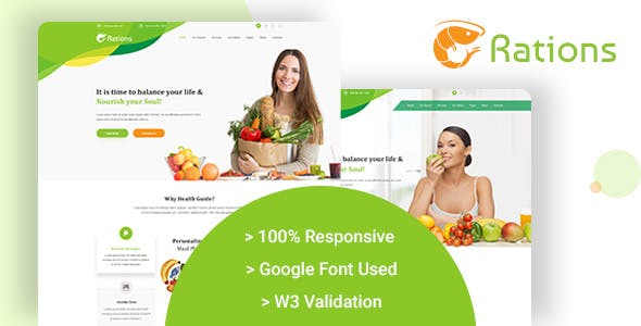health amp nutrition template templates from themeforest