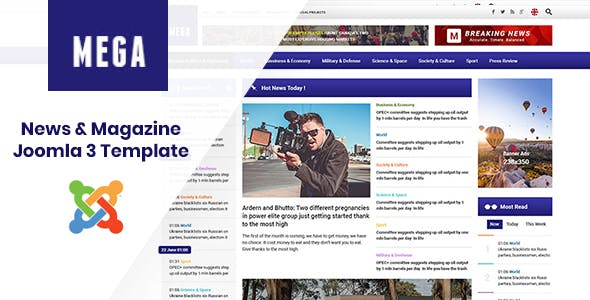 Magazine Template Templates from ThemeForest