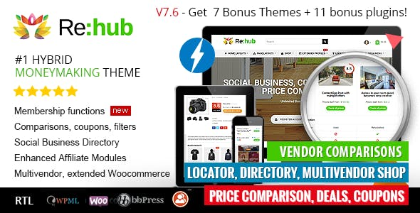 Affiliate Theme Wpml Website Template Compatible With Angularjs